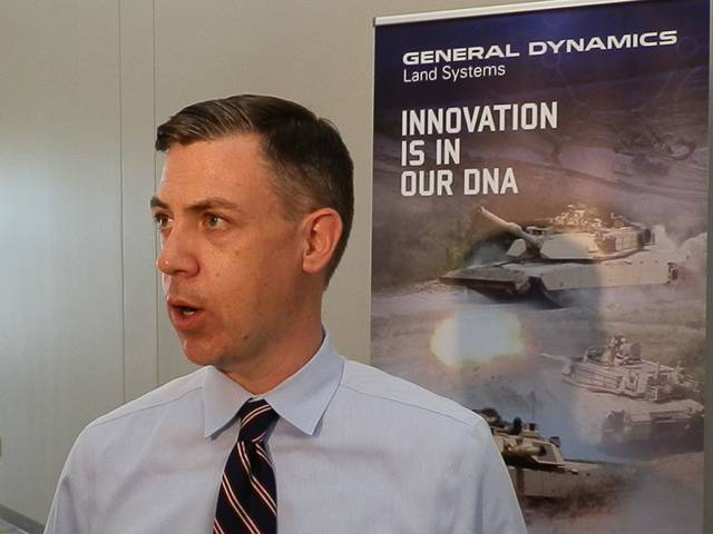 Craig Kelly | The Lima News U.S. Rep. Jim Banks, R-Indiana, spoke to the media after touring Joint Systems Manufacturing Center with Rep. Jim Jordan, R-Urbana.