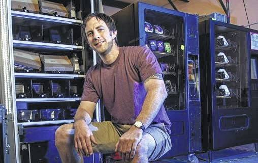 Jeff Thibodeau, who graduated from Wright State with a bachelor's degree in business marketing in 2007, founded Innovative Vending Solutions, which will supply a social media-activated vending machine as part of Homecoming Week.