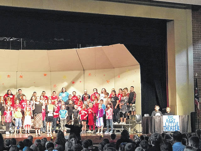 "The fifth- and sixth-graders at Hardin-Houston Elementary School has been busy this school year practicing for a play, which was performed Thursday. The students did two performances of ""The Best Little Theatre in Town."""