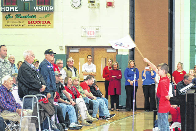 Students entertain and honor veterans during a program, Thursday, Nov. 9, at Anna Elementary School.