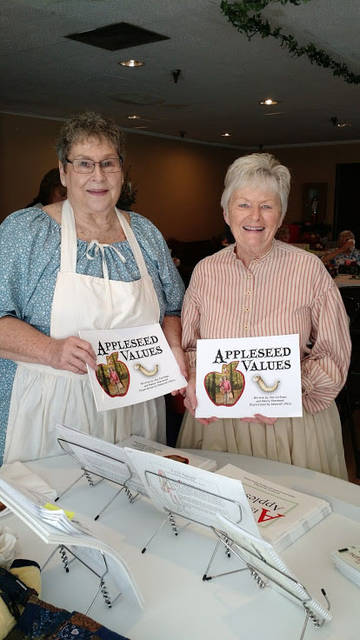 Ann Corfman, left, and Nancy Sherwood addressed a recent meeting of the Ohio Association of Garden Clubs, Region 5, in Sidney.
