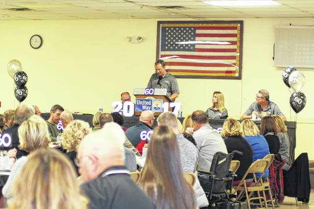 United Way Campaign Chair Kurt Barhorst discusses the 2017 campaign at the finale Thursday at the American Legion.