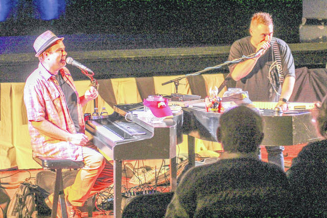 Dueling Pianos International performs at the Historic Sidney Theatre Friday, Oct. 27.