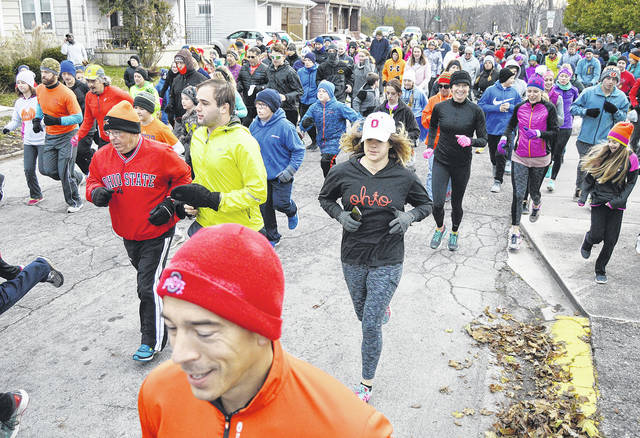 The 11th annual First Presbyterian Church Turkey Trot 5K Run/Walk starts at 8:30 a.m., Thursday, Nov. 23. Participants brought non-perishable food items to be donated to local food pantries.