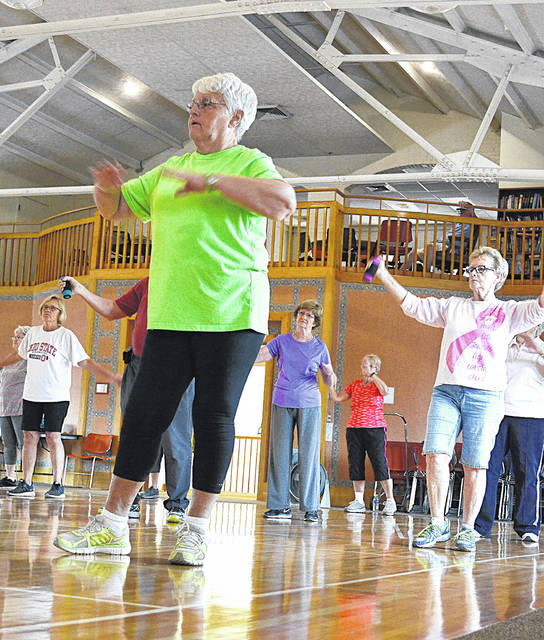 No one sits still for very long at the Senior Center of Sidney-Shelby County. Move N Groove is just one of their popular activities.