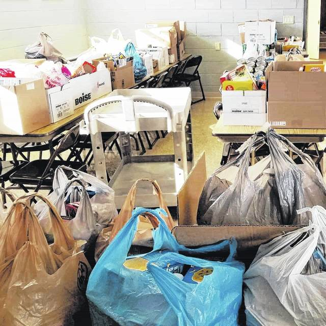 """Houston's National Honor Society held the Thanks """"giving"""" Food Drive. Nearly 1,500 canned and boxed items were donated."""
