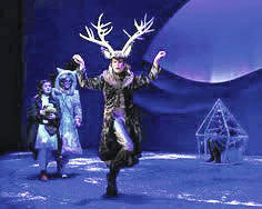 """Characters in """"The Snow Queen"""" try to break an evil spell. Gateway Arts Council will present the Columbus Children's Theatre production, Dec. 9, in the Cameo Theatre."""