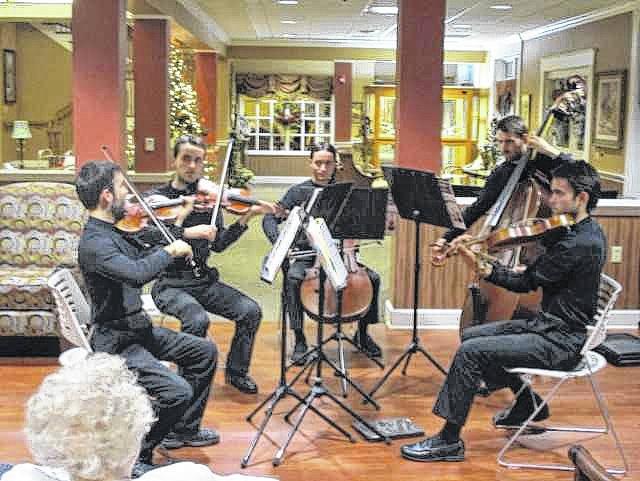 The Full Sound Chamber group performed at Elmwood of New Bremen. The five brothers play music like that of which you would hear at a symphony.