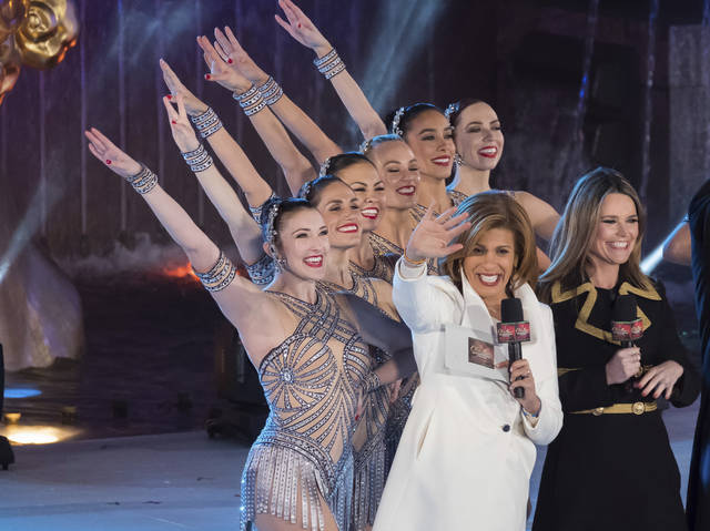 "Savannah Guthrie, right, and Hoda Kotb appear with the Rockettes during the 85th annual Rockefeller Center Christmas Tree lighting ceremony on Nov. 29 in New York. NBC News opened the new year by appointing Kotb as co-anchor of the ""Today"" show's first two hours with Guthrie, replacing Matt Lauer following his firing on sexual misconduct charges in late November."
