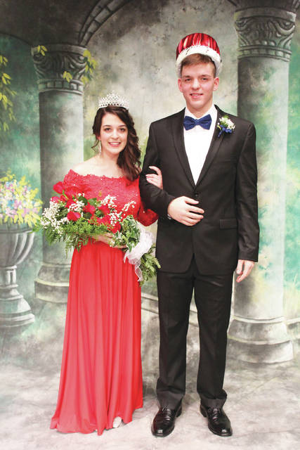 James DiLullo and Angelina DiLullo, son and daughter of Michelle DiLullo, of Sidney, were crowned king and queen for the 2018 Houston High School homecoming. The pair were crowned Friday night and presided over the homecoming dance Saturday night. The theme for the dance was A Party at the Parthenon.