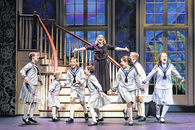 "Jill-Christine Wiley, as Maria, romps with the von Trapp children in a scene from ""The Sound of Music."" The beloved musical will perform in Dayton at the Schuster Center beginning Feb. 13."