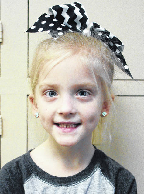"""Reese Jones, 6, of Sidney, daughter of Brandon and Kristin Jones. """"Play with snowballs. Throw them at my dad."""""""