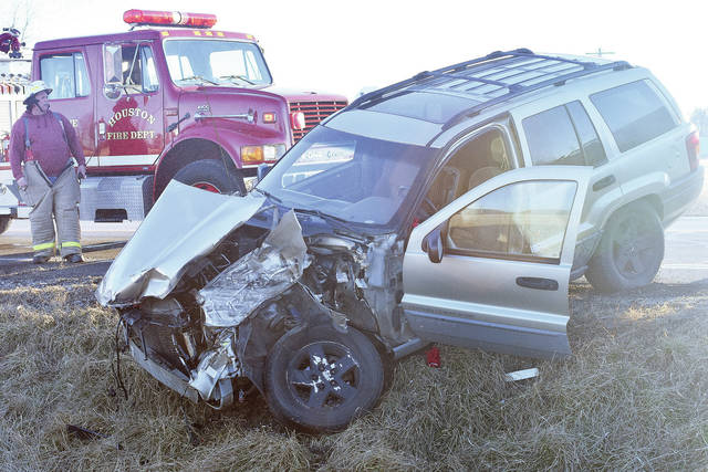 A vehicle was severely damaged when it was struck by a semi at the intersection of Stoker Road and state Route 66 just south of Newport shortly after 4 p.m., Friday, Jan. 26. One person sustained minor injuries. Early information suggested the smaller vehicle may have pulled into the path of the semi. The Shelby County Sheriff's Office is investigating the accident. The Houston Fire Department and Houston Rescue responded to the scene.