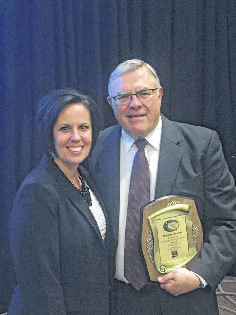 Lifetime Achievement Award winner Thomas Kremer and Michelle Brunson, who nominated him for the award, are shown after Kremer received his award in Nashville, Tenn.
