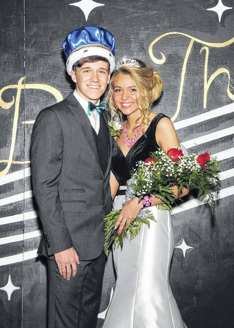 Michael Ditmer, son of Mark and Sheryl Ditmer, and Olivia Quinter, daughter of Lisa Quinter, were voted king and queen of Russia High School's 2017-2018 homecoming.