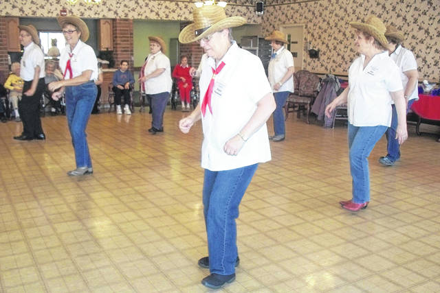 The Dorothy Love Steppers perform recently at Ohio Living Dorothy Love. Some members of the group got their start in previous beginning line dancing classes.