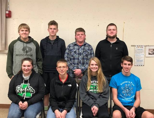 McCartyville Producers 4-H Club 2018 officers are, back row, left to right, Grant Albers, news reporter; Connor Bensman, recreation officer; Ryan Bruns, community service; Cole Albers, health/safety officer; and front row, Aubrey Hoying, vice president; Derek Wolters, president; Liz Michael, secretary; and Ben Schmitmeyer, treasurer