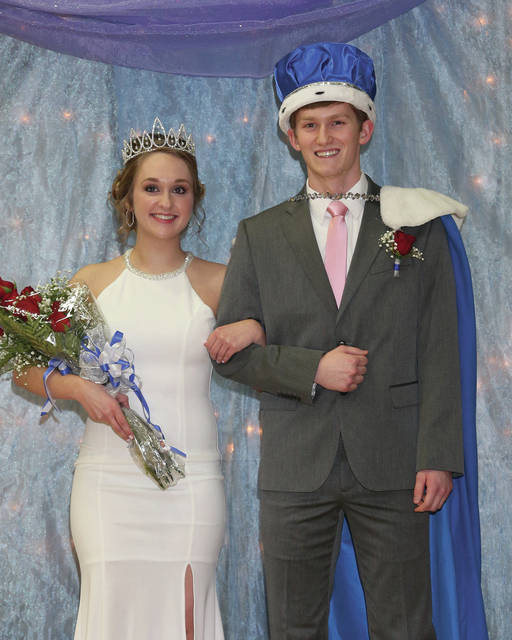 Aliya Sharp, 18, the daughter of Dean and Karen Sharp, and Stephen Blanford, 18, both of Sidney, the son of Jeremy Blanford and Heather Blanford, were crowned Fairlawn Homecoming King and Queen.