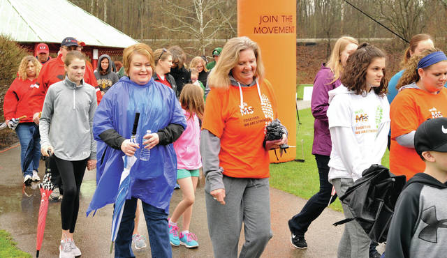 Wet conditions didn't stop people from taking part in the MS walk at Tawawa Park Saturday, April 14. Multiple Sclerosis (MS) is a disease which causes the bodyճ immune system to attack nerve-insulating myelin.