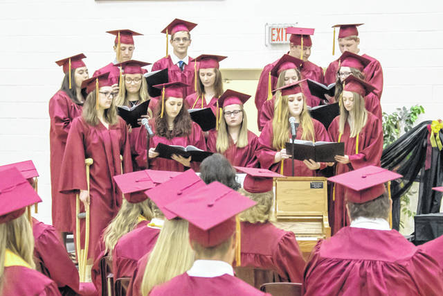 New Bremen High School's choir performs during Sunday's graduation ceremony.