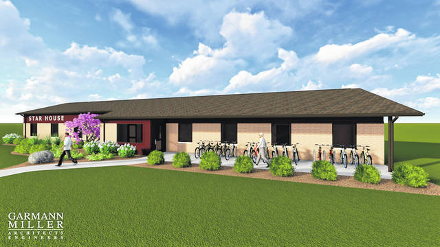 An artist's rendering illustrates what the completed STAR House will look like.