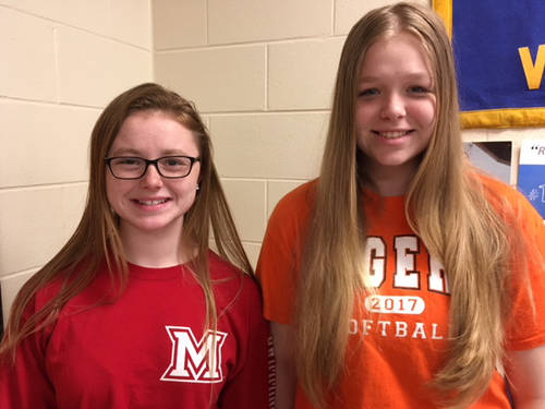 Deanna Day and Amberlyn Riley participated in the State FFA Aquarium Management CDE.