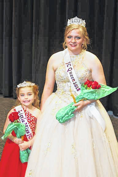Brynleigh Osysko, 7, left, daughter of Ryan and Ashley Osysko, was crowned 2018 Little Miss Jackson Center, and Caroline Frieders was crowned 2018 Jackson Center Community Days queen during ceremonies, Thursday, May 31. The Community Days festival continues through Sunday.