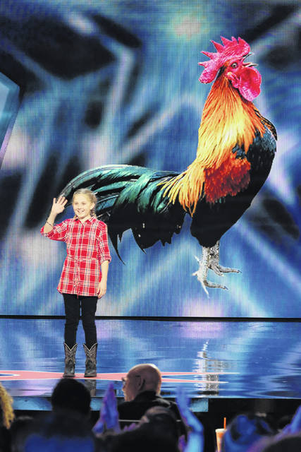"""Lilly Wilker, of New Bremen, shares her animal impressions on Tuesday night's episode of NBC's """"America's Got Talent."""""""
