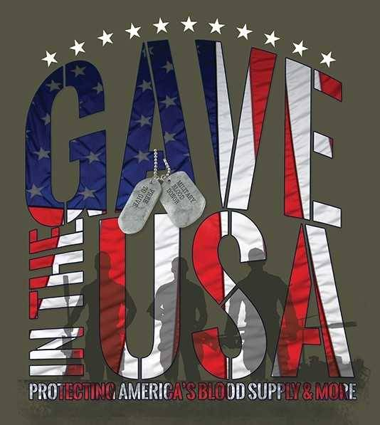 "CBC ""Gave in the USA"" T-shirt design."