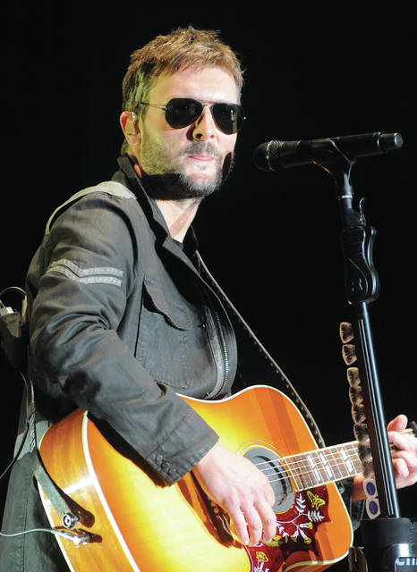 Mike Ullery | AIM Media Midwest County Concert 2018 headline act Eric Church closes the show on Saturday with a performance in front of a crowd numbering in the tens-of-thousands.