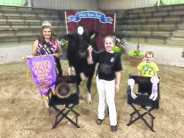 Taylor Birkemeier, 13, daughter of Greg Birkemeier and Dixie Sammons, of Sidney, showed the 4-H and Junior National Holstein reserve grand champion at the 2018 Ohio State Fair. She is a member of Scissors to Sheep 4-H.