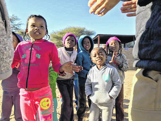 Namibian children are all smiles for the camera.