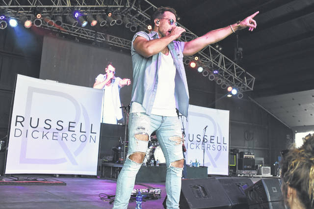 Russell Dickerson performs on the Saloon Stage at Country Concert Thursday, July 5.
