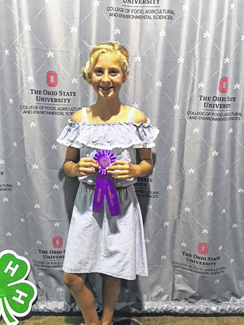 Ella Boerger, 12, daughter of Gina and Kevin Boerger, of Fort Loramie, won Outstanding of the Day in the sewing category, Sundresses and Jumpers, at the 2018 Ohio State Fair. She is a member of Merry Mod Makers 4-H.