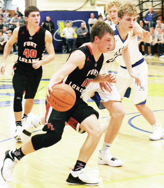 Fort Loramie s Nick Brandewie dribbles during a nonconference game on  Saturday in Maria Stein. 9e5ea0b5b